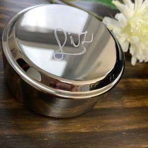 Things Remembered 'Liz' Mirrored Round Trinket Box